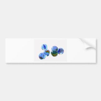 Blue Glass Images Bumper Sticker