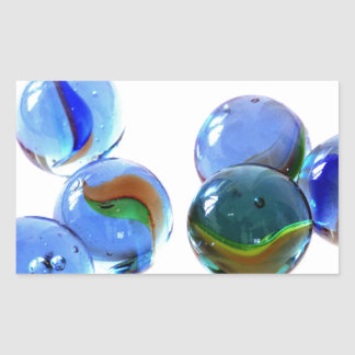 Blue Glass Images Rectangle Sticker