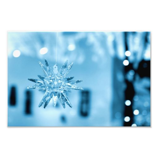 Blue Glass Ornament Photo Print