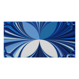 Blue Glass Stones Photo Card