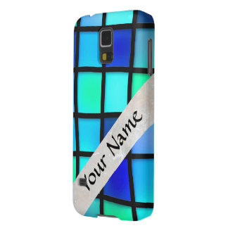 blue glass tile square case for galaxy s5