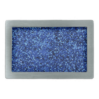 Blue Glitter Belt Buckle