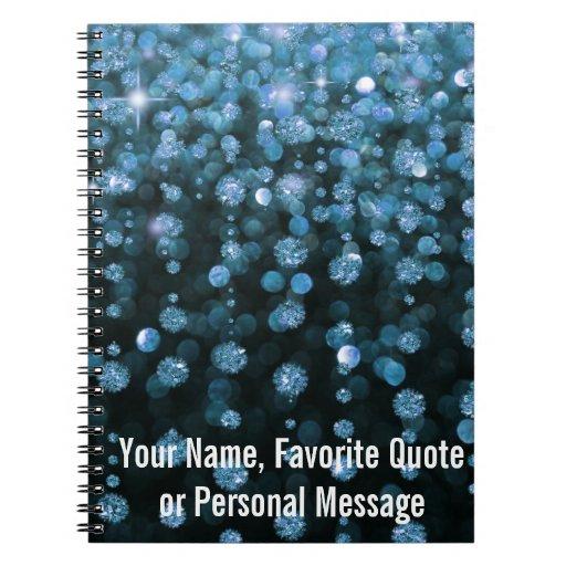 Blue Glitter Diamonds Notebooks