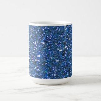 Blue Glitter Hanukkah Mug
