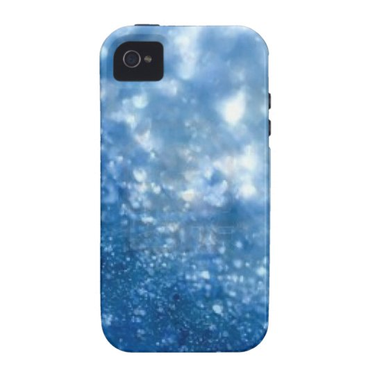 Blue Glitter I phone case