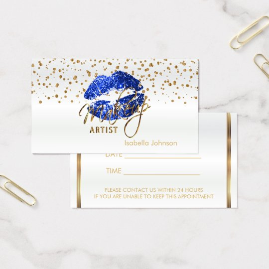Blue Glitter Lips Appointment Schedule on White Business