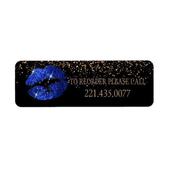 Blue Glitter Lips - Reorder