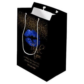 Blue Glitter Lipstick - Thank You Medium Gift Bag