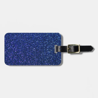 Blue Glitter Luggage Tag