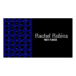 Blue glitter party planner stylist pack of standard business cards