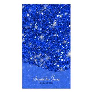 Blue Glitter Pattern Business Card