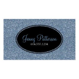 Blue Glitter Pretty Elegant Girly Business Cards
