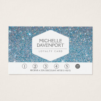 BLUE GLITTER Salon Loyalty Card