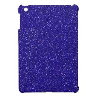 Blue Glitter Sparkle Graphic Art Pattern Design iPad Mini Case