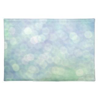 Blue glitter / sparkles (matt) placemat