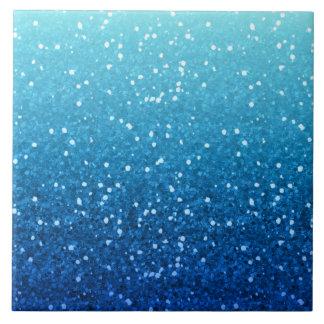 blue glitter tile