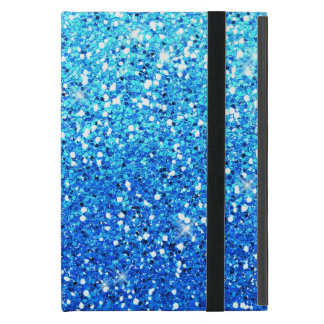 Blue Glitters Sparkles Texture iPad Mini Cover