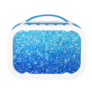 Blue Glitters Sparkles Texture Lunch Box