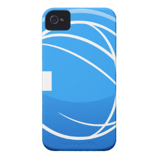 Blue Global Exit Button Icon iPhone 4 Cases