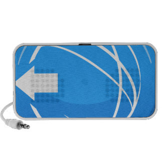 Blue Global Exit Button Icon Notebook Speaker