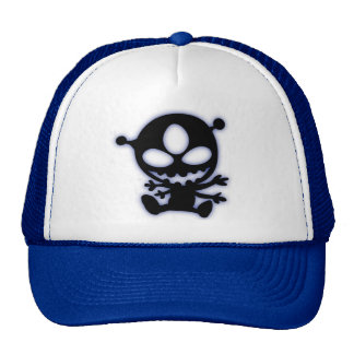 Blue Glow Alien Cap
