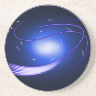 Blue Glow Lines Coaster