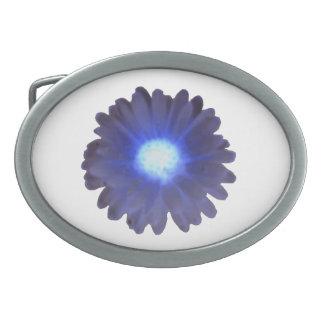 Blue Glow Marigold Belt Buckle