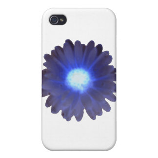Blue Glow Marigold  Cover For iPhone 4