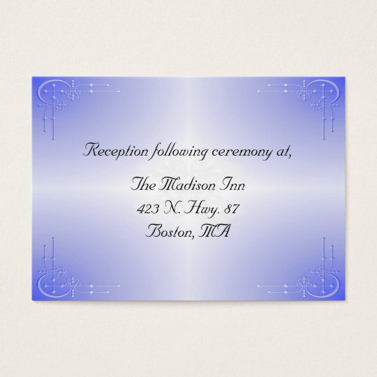 Blue Glow Wedding enclosure cards