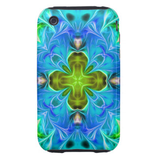 Blue Glowing Abstract iPhone 3 Tough Covers