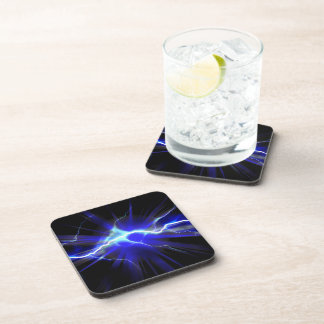 Blue glowing lightning or electricity coaster