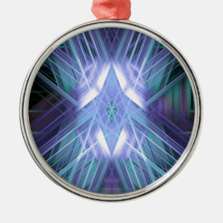 Blue glowing star christmas ornament