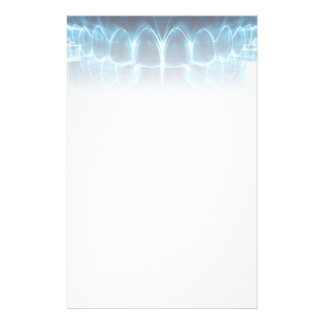 Blue Glowing Teeth Smile Dentist Stationery