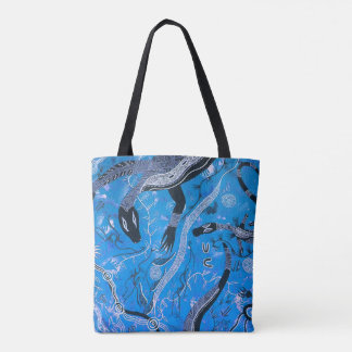 Blue Goanna Dreaming Tote Bag