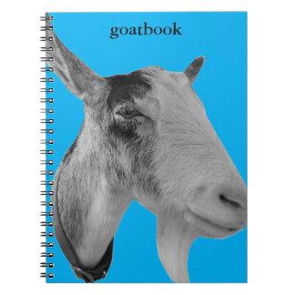 Blue Goatbook Spiral Note Books