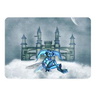 Blue Goblin 13 Cm X 18 Cm Invitation Card