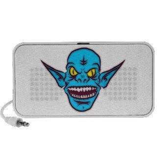 Blue Goblin Monster Head Portable Speaker