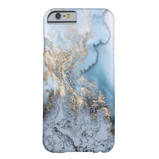 Blue Gold Barely There iPhone 6 Case