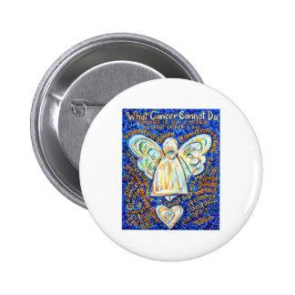 Blue & Gold Cancer Angel Button