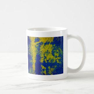 Blue Gold Classic White Coffee Mug