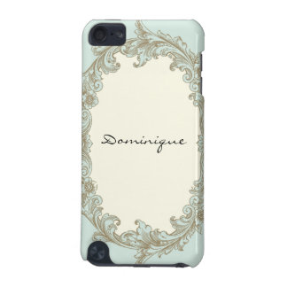 Blue Gold Cream Vintage Frame iPod Touch 5G Cover