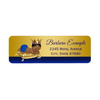 Blue Gold Ethnic Prince Address Labels