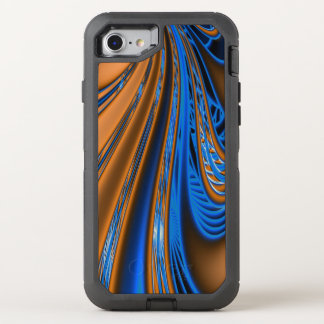 Blue Gold Fractal OtterBox Defender iPhone 8/7 Case