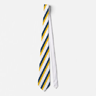 Blue & Gold Lightning Bolt Striped Tie
