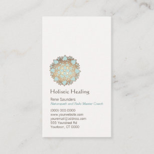 Naturopath business cards business card printing zazzle uk blue gold lotus holistic and natural health business card reheart Image collections
