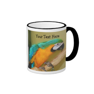 Blue Gold Macaw Parrot Animal Mug