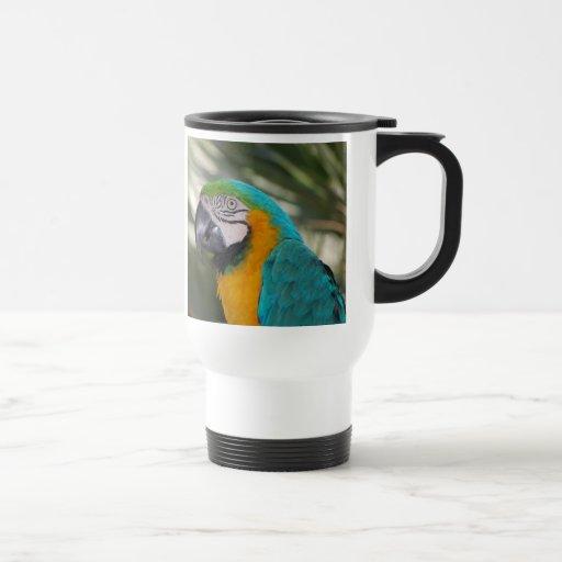 Blue & Gold Macaw Parrot Travel Mug