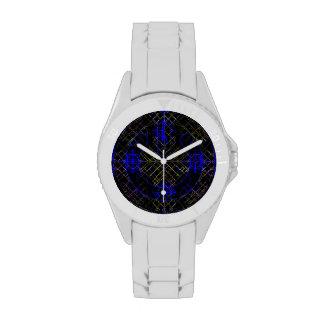 Blue & Gold Mesh Power Watch