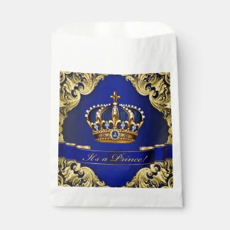 Blue Gold Prince Baby Shower Favour Bags