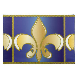 BLUE GOLD ROYAL CLASSY SYMBOL PLACEMATS